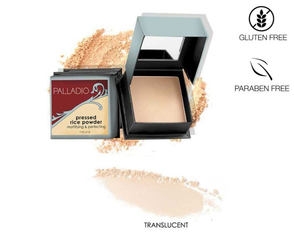Palladio - Rice Pressed Powder Translucent, 7,25g